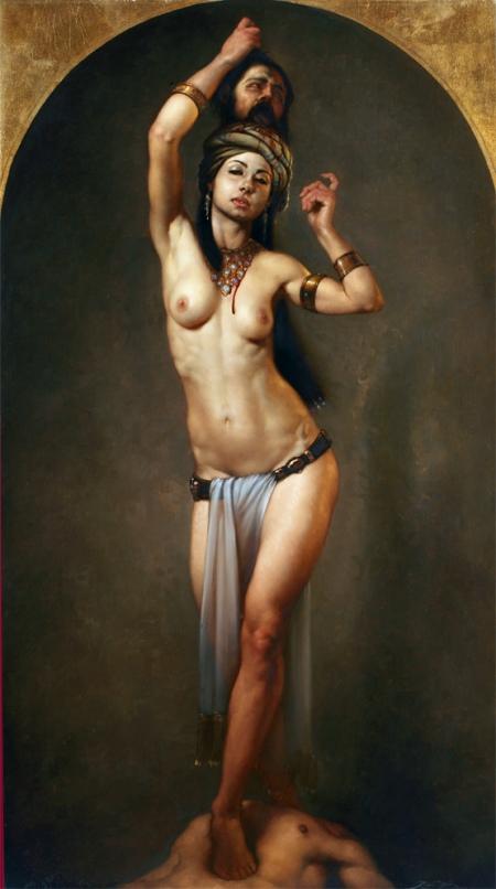 0005 SALOME' olio su tela 90 x 50 cm anno 2011